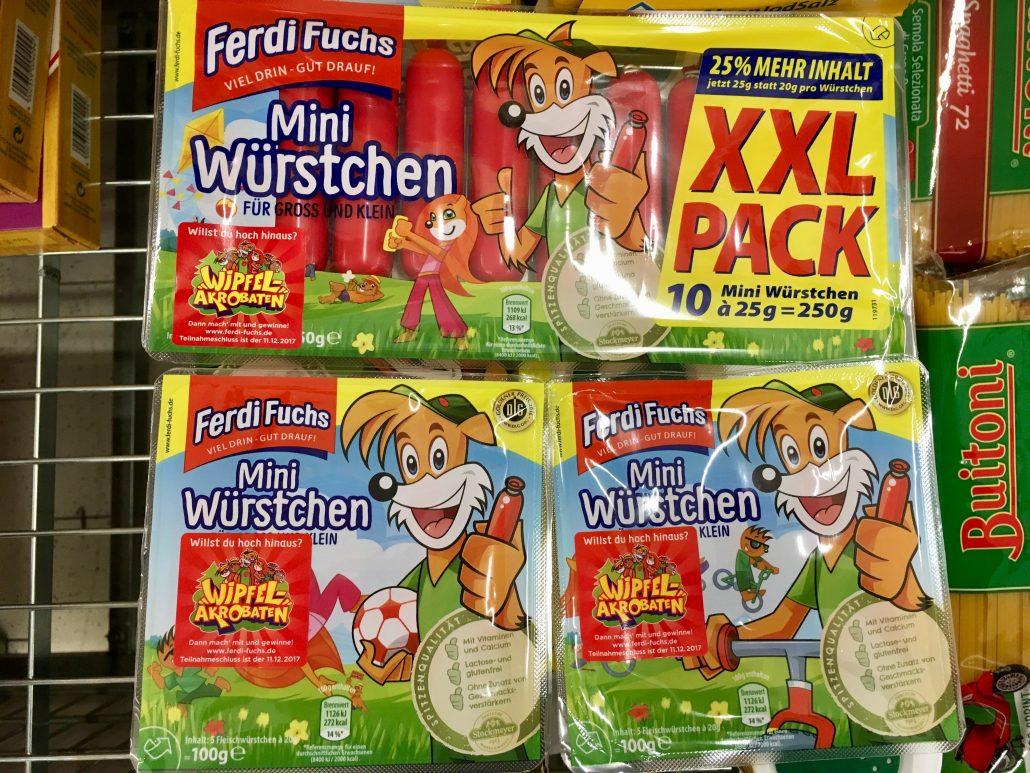 Ferdi Fuchs Mini Würstchen XXL Netto | Naschkater